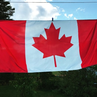 Canadian flag bestowed upon us by Bobby Roy and his family.