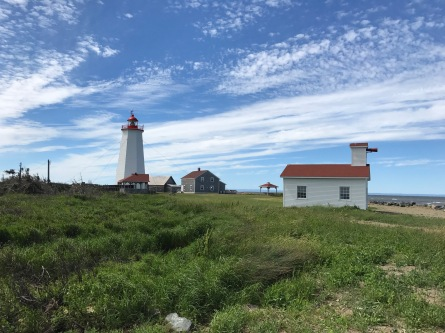 Miscue Island lighthouse on the northeastern tip of New Brunswick, Canada