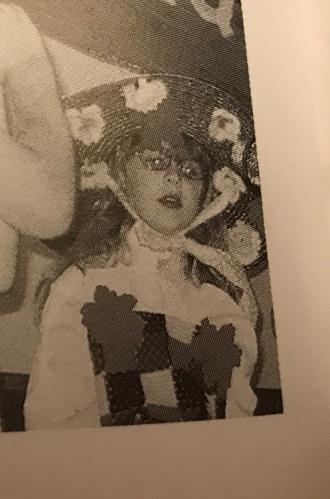 Maddie played Mother Goose in Kindergarten play