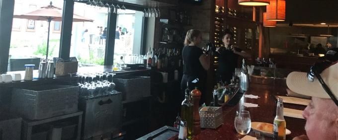 The bar overlooked the patio at Trivania Italian Kitchen.