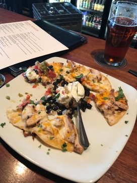 Chicken & Black Bean Tostada--clearly we sampled before this picture was taken!