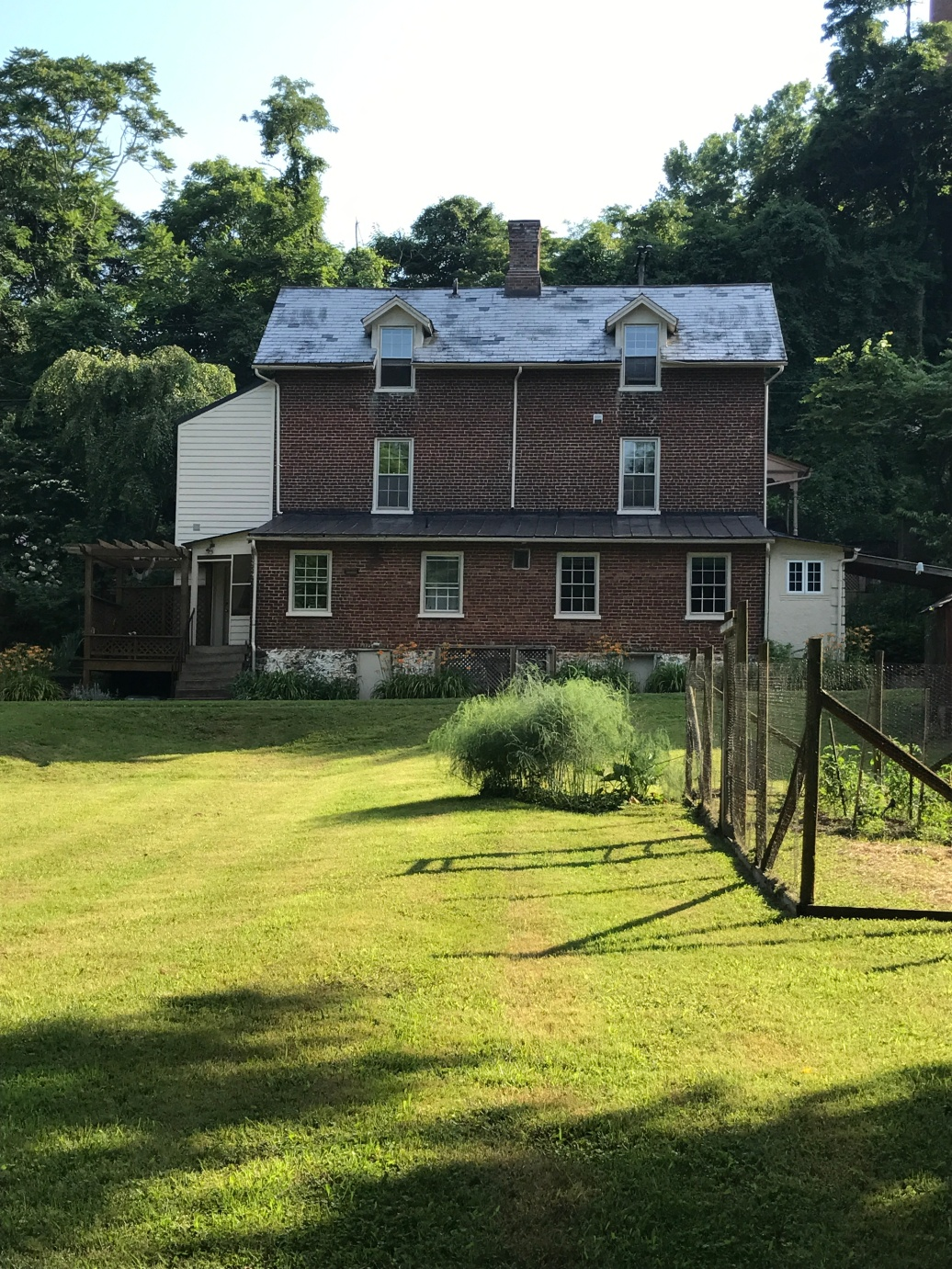 Our studio apartment was on the bottom right-hand side on the back of a home built in the 1830s.