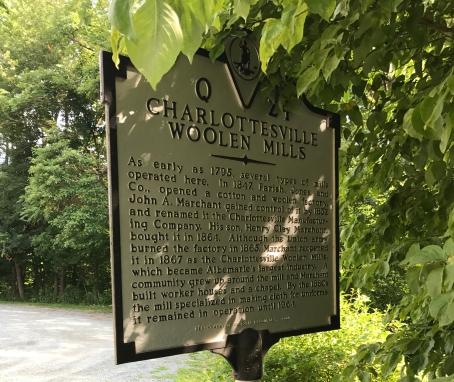 Charlottesville Woolen Mills area