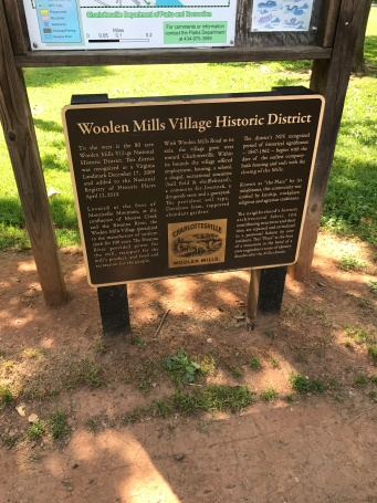 We stayed in the Woolen Mills Historic District.