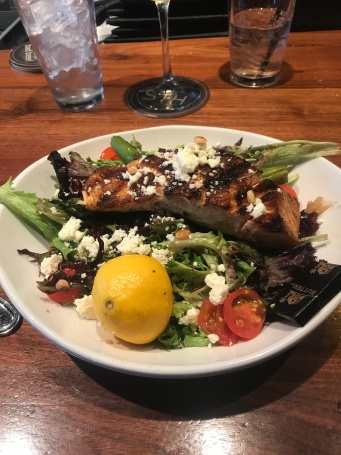My grilled salmon salad at Sedona.