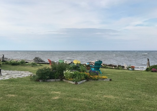 Arriving to the vacation cottage in Petite Rocher, New Brunswick off the Bay of Chaleur