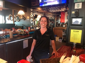 Terri our bartender/waitress at Cast & Crew.