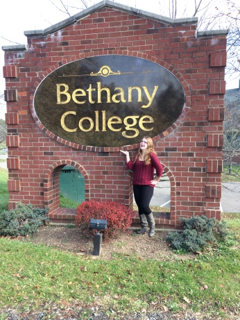 Maddie during our first visit to Bethany College in November of 2015.