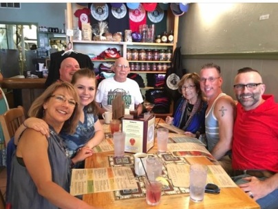 Me, Maddie, John, Jim, Mom, Scott, and Roger sitting at Casa Nueva in Athens, Ohio--just weeks before Maddie left for college.