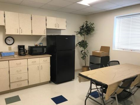 Staff break room at Scioto Advantage.