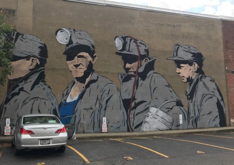 Art along the streets of Athens, Ohio.