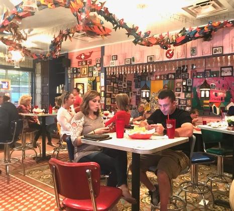 Inside the bar area of Chury's