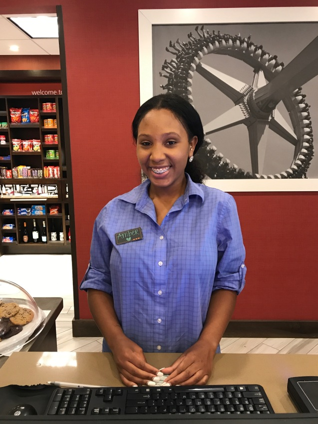 Amber was a delightful and helpful Hampton employee.