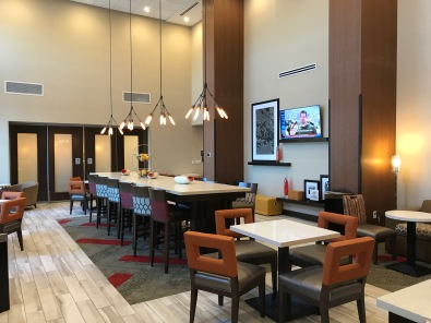 Breakfast/coffee/lobby area of Kenwood Hampton Inn