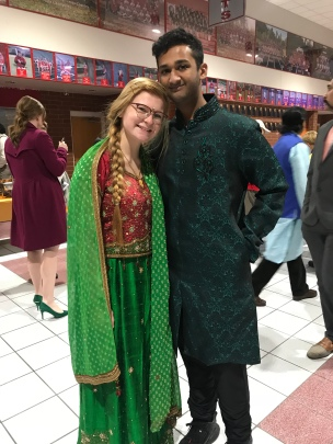 Emily Blatt and Naveen Joseph, two of our former students, smile for us.