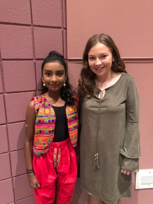 Maanasa Miriyala and H eidi Short, two of our current students celebrate Diwali.