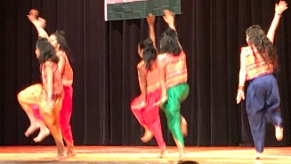 Maanasa Miriyala dances in the TSIA Diwali celebration.