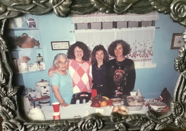 "My mom's mom, ""Grandmother,"" my sister, Traci, me, and my Mom taken many years ago."