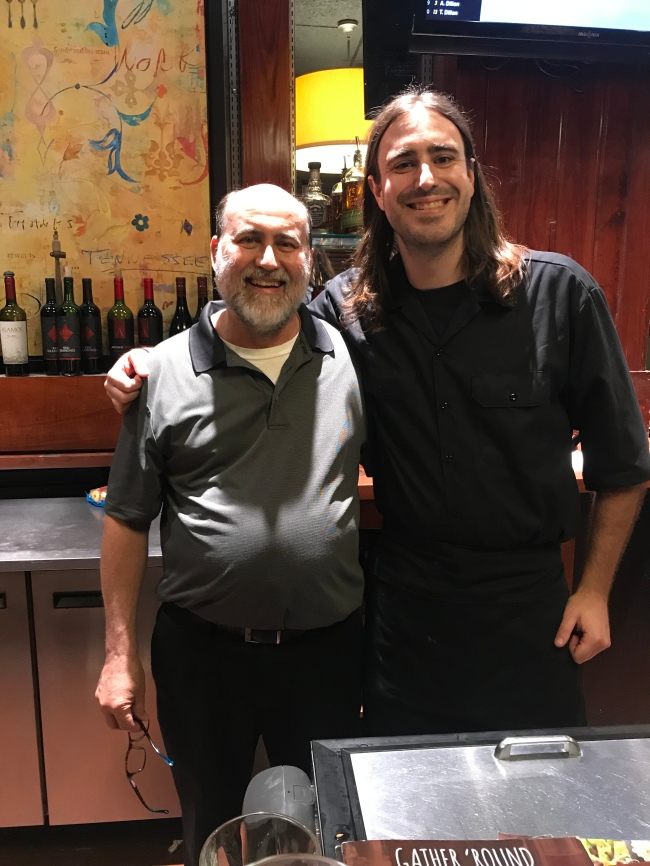 Orangeburg, SC Ruby Tuesday's General manager, Anthony Dealoia & Bartender/Waiter, Webb
