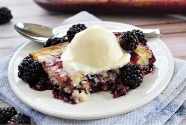 Unfortunately, this is not Grandmother's variation of cobbler. Her cobbler would have been served in a white with a bit of navy trim Correlle brand bowl. Grandmother's cobbler would have been baked in a 9 x 12 heavy duty baking pan with the fruit (mixed with a whole lot of sugar)and the top would have been like a traditional pie crust rolled out in a rectangle instead of a circle.