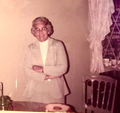 Grandmother Helen, at my childhood home kitchen.