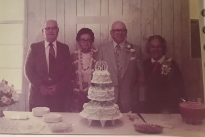 Hampton and Gladys Stanley, Papaw's Brother-in-law and his sister; beside Papaw and Grandmother (Chester and Helen Slater)