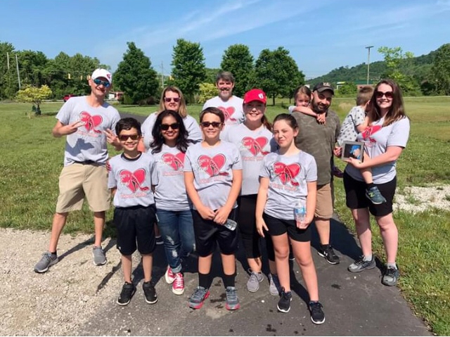 Part of Angie's Heart and Sole team ready to participate in the AHA 2020 Virtual Huntington Heart Walk presented by St. Mary's Regional Heart Institute.