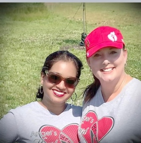 Angel Schneider with her Sis, Pearl G. Miller, at the AHA 2020 Virtual Huntington Heart Walk presented by St. Mary's Regional Heart Institute.